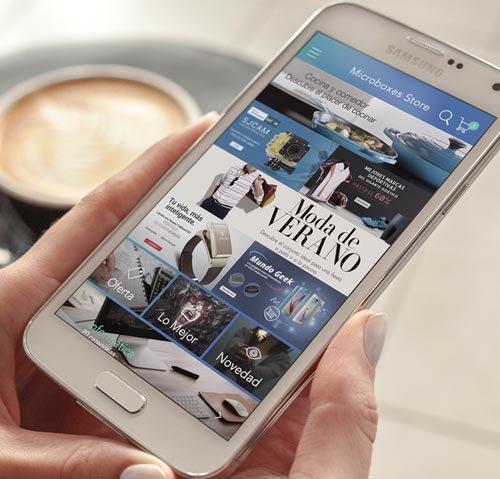 Aplicación nativa con sistema E-Commerce
