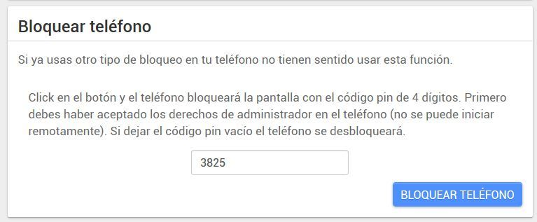 android lost bloquear telefono